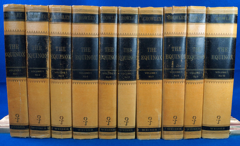 RD26573 The Equinox Review of Scientific Illuminism 1974 Vol. 1 Complete Set of 10 Books Aleister Crowley Occult Magic DSC08460