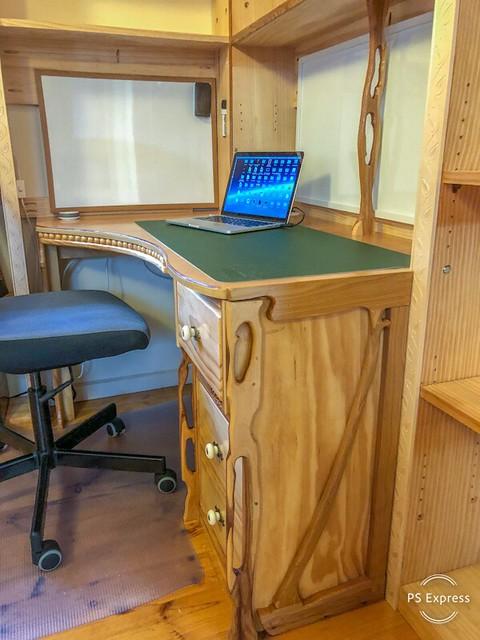 Art Nouveau-inspired desk
