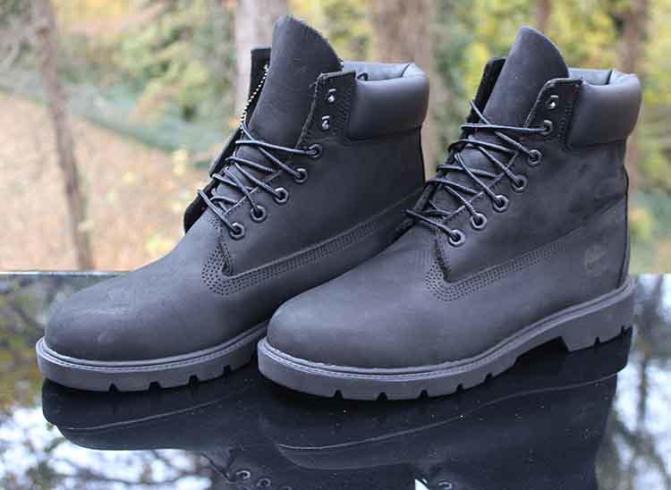 Timberland 6 Inch Basic Waterproof Boots Padded Collar Bla