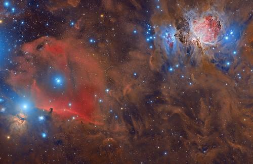 Orion HalfaRGB   by astrocentejo (La Tierra se me queda pequeña)