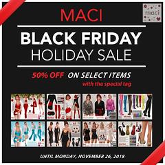 Maci ~ Black Friday Sale