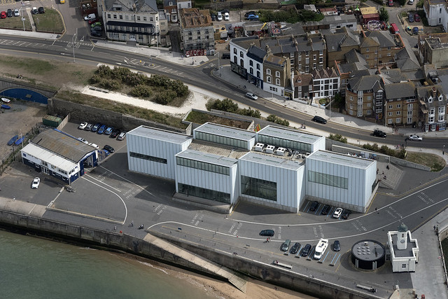 Turner Contemporary & lifeboat station - Margate Kent aerial