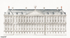 The City Hall in Amsterdam by Johan Teyler (1648 -1709). Original from The Rijksmuseum. Digitally enhanced by rawpixel.
