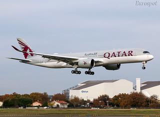 F-WZNM Airbus A350 Qatar   by @Eurospot