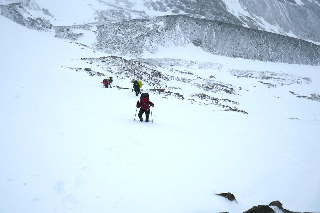Breaking Trail in Snow