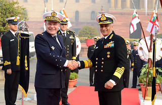 The Chief of the Naval Staff French Navy, Admiral Christop