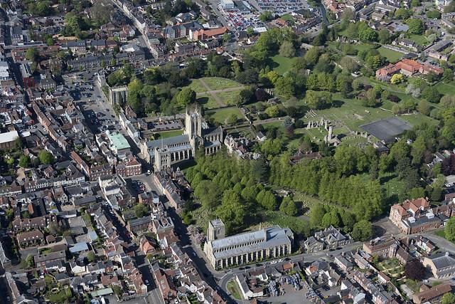 Bury St Edmunds Abbey - aerial