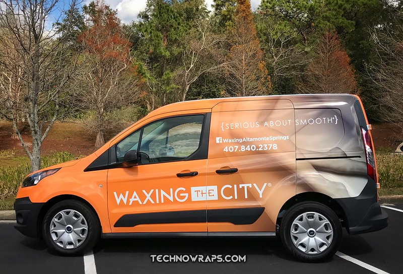 Cargo van wrap by TechnoWraps.com in Orlando