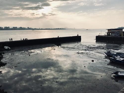ferry 碼頭 夕陽 sunset 淡水 tamsui