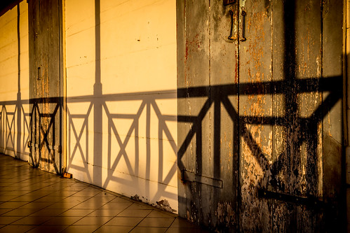 wood fence shadow sunset sunrise door decay