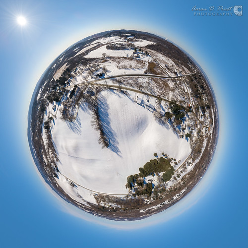 brunswick dji newyork troy wynantskill aerial blue clear cold drone littleplanet panorama snow spherical stereographic sunny winter unitedstates us