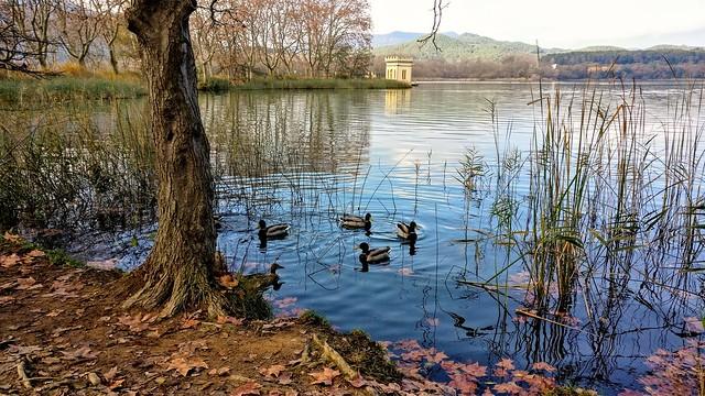 Lago de Banyoles en otoño. Gerona (Catalunya)