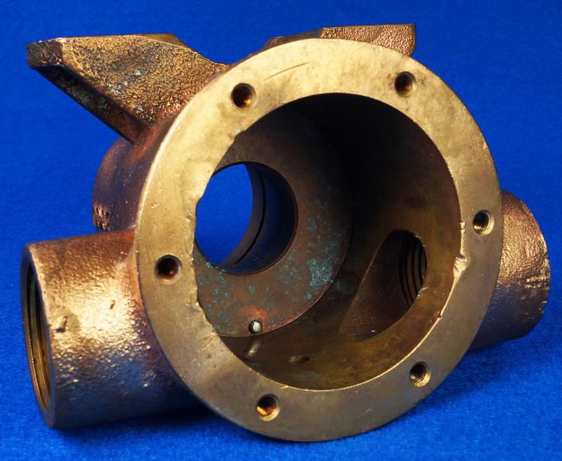 RD26699 Jabsco 2 inch Bronze Pedestal Pump Housing & Plate Only #18370-0000 DSC08799