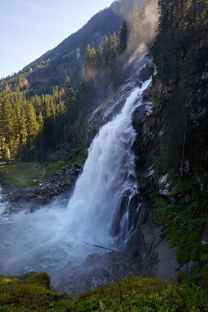 Der unterste der Krimmler Wasserfälle