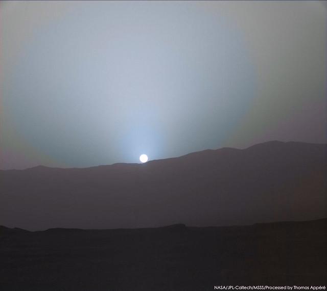 Martian sunset - sol 2233