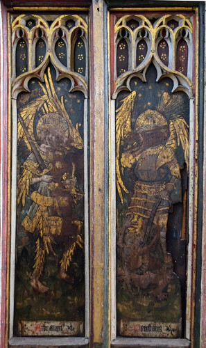 north aisle screen: archangels and powers (15th Century) | by Simon_K