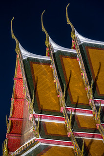 Thai Buddhist temple architecture at night - Bangkok | by Phil Marion (173 million views - THANKS)