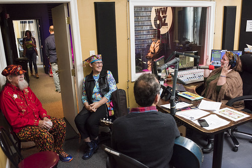 Boehms and Leslie Cooper, Seva Venet at WWOZ's 38th birthday - 12.4.18. Photo by Ryan Hodgson-Rigsbee rhrphoto.com