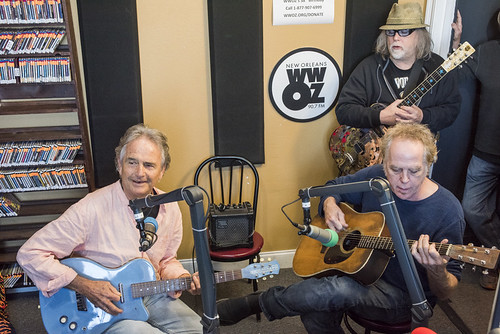 Spencer Bohren, Jimmy Robinson, Papa Mali at WWOZ's 38th birthday - 12.4.18. Photo by Ryan Hodgson-Rigsbee rhrphoto.com.