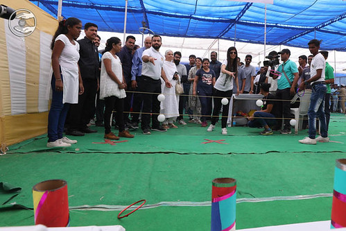 Rev. Ramit Ji and Rev Renuka Ji playing the game Rings