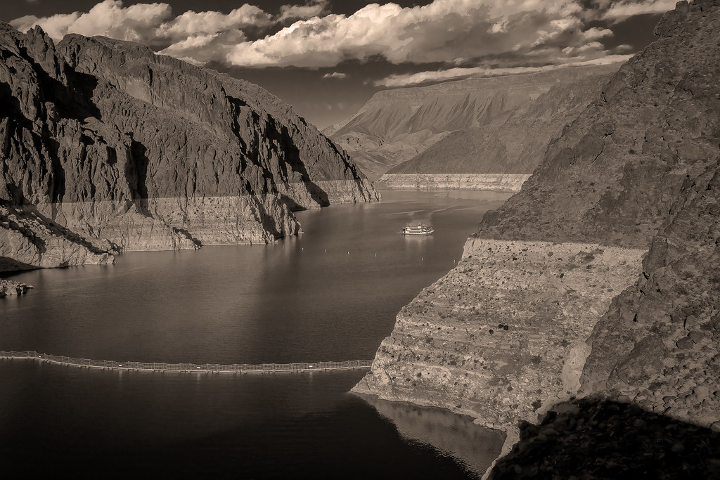 Hoover Dam | Hoover Dam is a concrete arch-gravity dam in th