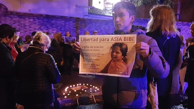 08.11.2018 Vigilia por la Libertad de Asia Bibi en Madrid