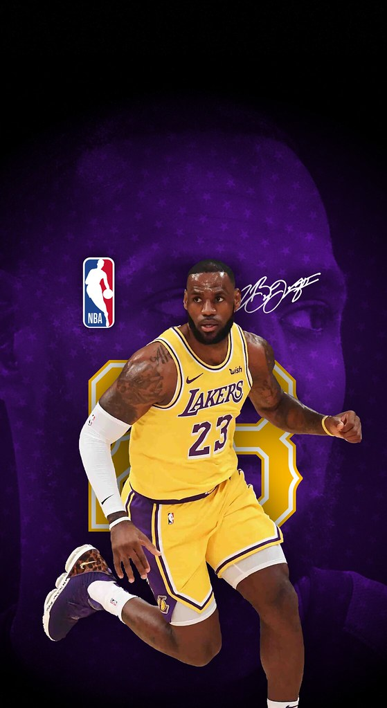... LeBron James (Los Angeles Lakers) iPhone X/XS/XR Wallpaper