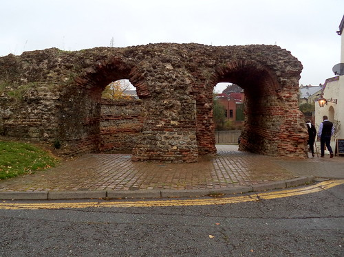 Roman Balkerne Gate in Colchester   by Tony Worrall