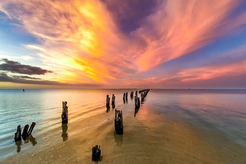 bellarinepeninsula cliftonsprings jetty sunset underwater victoria australia au