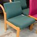 Beech fabric meeting room chair E45