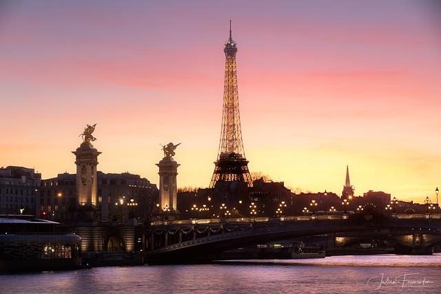 Tour Eiffel & Pont Alexandre III, Paris