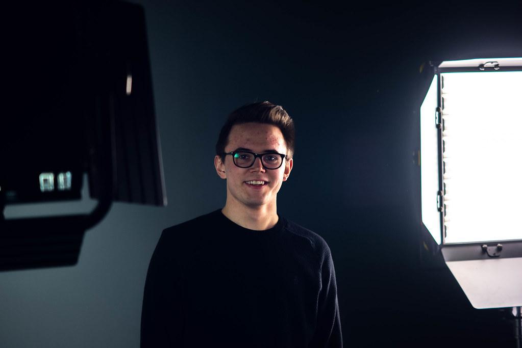 Cole in the studio