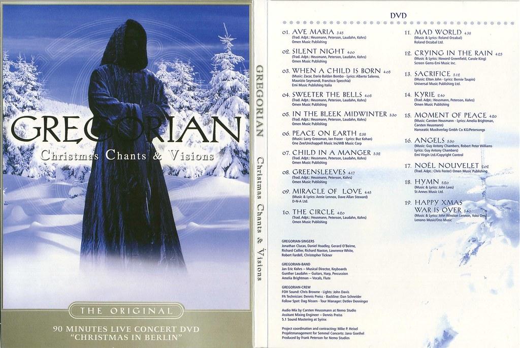 Gregorian Christmas Chants.9286 Gregorian Christmas Chants Visions Filmes Dvd Flickr
