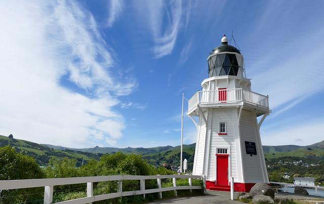 Akaroa Harbor and Lighthouse.