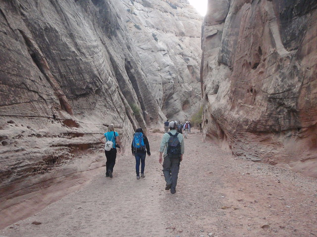 Hiking into Capitol Reff National Park