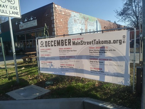 Line up of Holiday Events, 12/2018, Main Street Takoma Park, Maryland | by rllayman