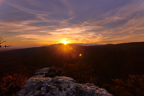 linville gorge mountain nc north carolina sky orange outdoors outside rocks valley nikon d850 wide handheld golden hour