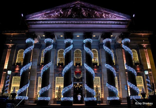 Xmas lights  Edinburgh Scotland