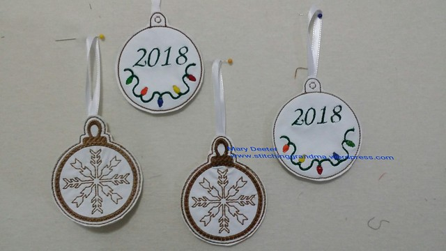 Ornaments on White