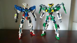 LEGO Gundam Exia & Gundam Dynames (Mobile Suit Gundam 00) | by demon1408
