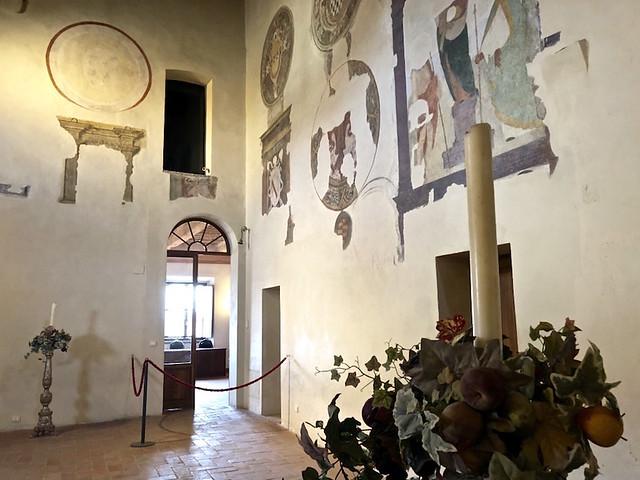 All'interno del Castello di Lari