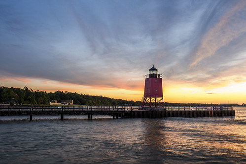 charlevoix lighthouse lakemichigan michigan puremichigan water clouds sunset oly olympus getolympus em1mkiiomdem1markii em1ii omdem1mkii omd omdem1ii 1240mm 1240mmf28 olympusm1240mmf28 evening