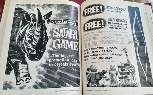 Sanitarium Safari 1961 - Cereal Toys
