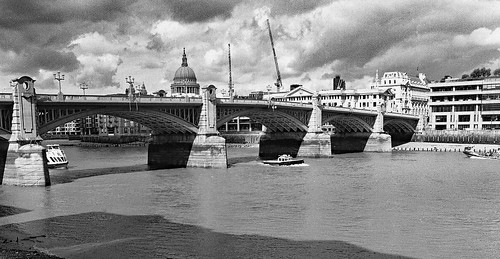 Southwark Bridge London ( B&W version) | by pentaxpete