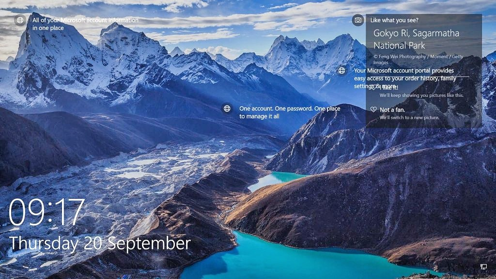 Lock Screen Image for Windows 10 | My image shot in the Hima