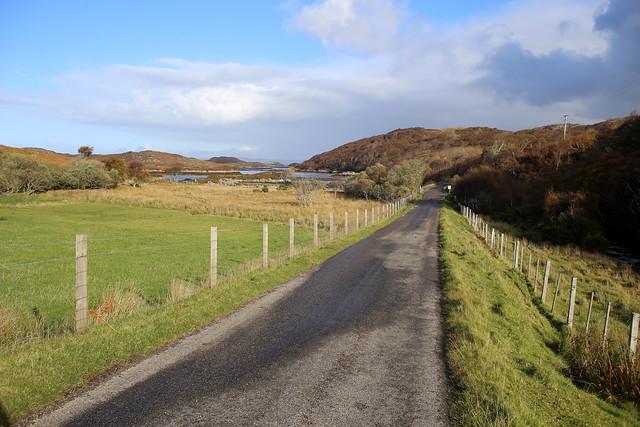 The B869 near Drumbeg