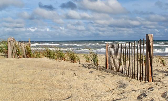 Windy Afternoon on a Deserted Beach-Emerald Isle-North Carolina 0773