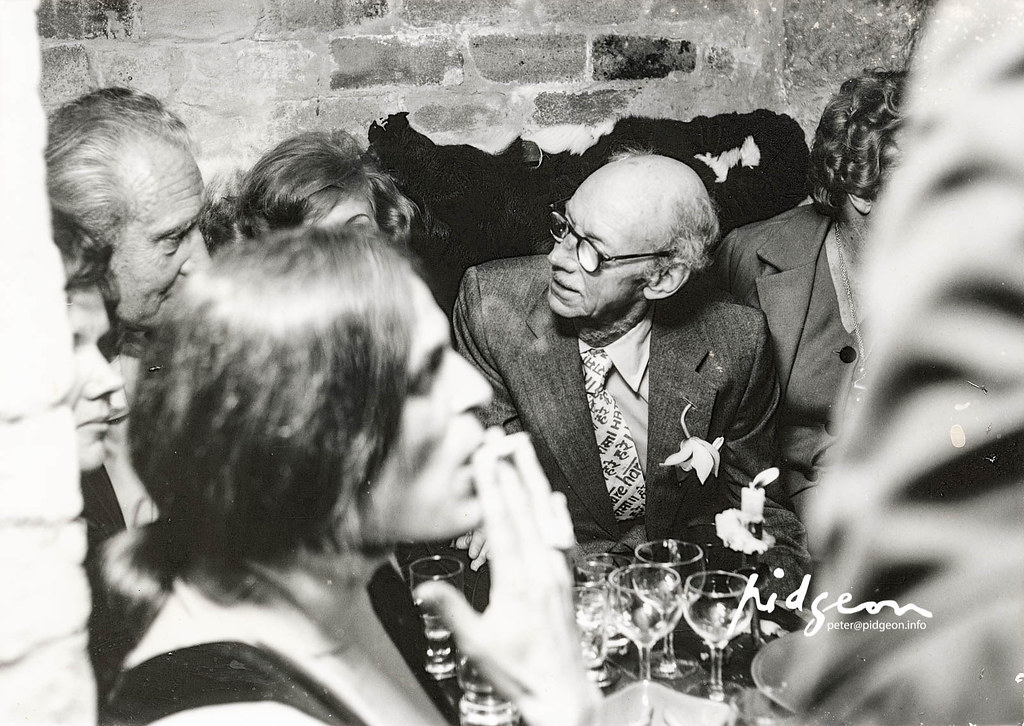 Bill Pidgeon chatting to Reinis Zusters, c.1979
