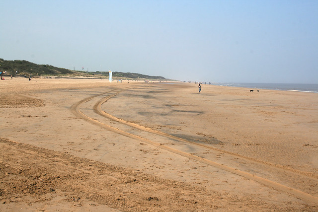 The beach north of Mablethorpe