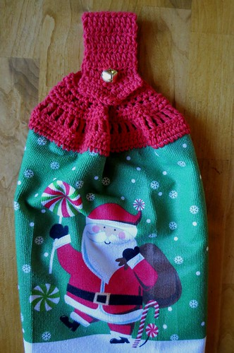 Santa Double Layered Towel Topper